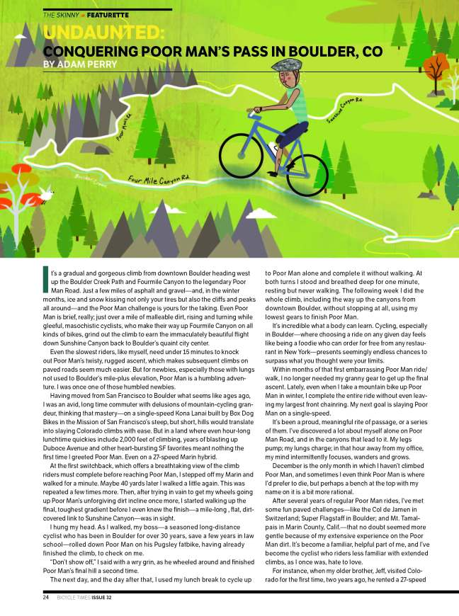 BicycleTimes Poor Man Article Nov 2014