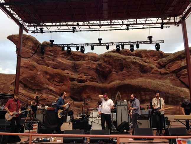 Nathan & Stephen open the Illegal Pete's 20th Anniversary Party at Red Rocks on Sunday